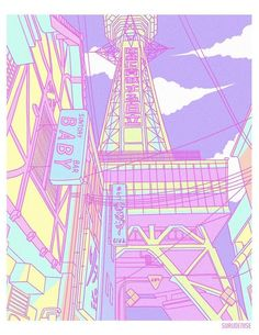 This artist is inspired by animes to create superb Japanese landscapes … – Blackhead Aesthetic Japan, Neon Aesthetic, Japanese Aesthetic, Aesthetic Anime, Aesthetic Black, Aesthetic Pastel Wallpaper, Aesthetic Backgrounds, Aesthetic Wallpapers, Japon Illustration