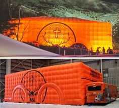www.stretchstructures.com - Jagermeister branded inflatable marquee