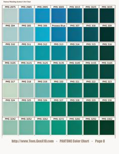 Green Color Names Palette  Hue Blog  Pantone Shades Of Green