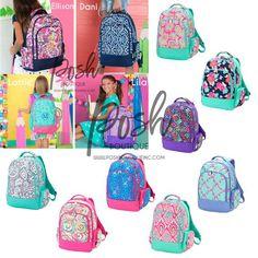 Backpack Kids Navy Backpack for Girls Monogrammed Backpack Danni Viv and Lou Backpack White Personalized  Backpack