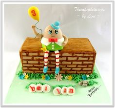Nursery Rhyme party Idea: Humpty Dumpty Cake