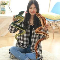 2016 New 1.2m Plush High Simulation King Cobra Model Toy Soft Stuffed Snake Life-like Snakes Factory Supply Free shipping