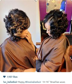 Gorgeous hair do I would love to wear this hairdo❤❤❤ Love Hair, Great Hair, Gorgeous Hair, Weave Hairstyles, Pretty Hairstyles, Bob Haircut Curly, Curly Bob, Curly Short, Dreads