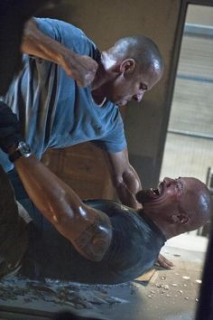 Fast Five: Vin Diesel (Dominic Toretto), Dwayne Johnson (Luke Hobbs)
