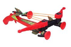 Air Hunterz ZX Cross Bow by Zing Toys. $24.99. From the Manufacturer The ZX Crossbow is the one to beat. Quickly lock and load, pick your target, ready, aim, fire. Product Description AH177M Features: -Fly over 45 feet.-Power swing action, bow arms pop open fast load.-Ages 8+. Includes: -Includes bow and three zartz arrows. Disclaimer: -Warning: Do not aim at eyes or face, do not aim or shoot at people or animals.