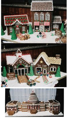 Amazingly intricate, one-of-a-kind gingerbread houses designed by Maribeth's Bakery! www.maribethsbakery.com/index.html