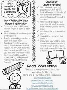 Straightforward, specific tips to help families support young readers - love it!