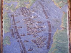 LEPANTO.  Depiction of the tactical array from the Vatican Library.