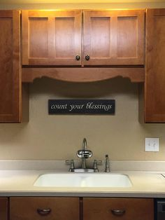 Count Your Blessings Sign above sink | SignsByAndrea.com