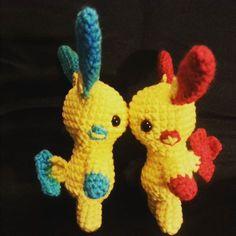 #pokemon #amigurumi #crochet #plusle #minun