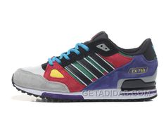 91d8e9eafde9c Adidas Zx750 Men Purple Red Black Grey Free Shipping