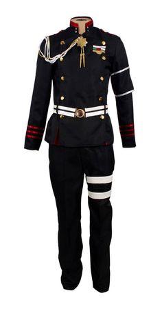 Mtxc Men's Seraph of the End Cosplay Costume Guren Ichinose Military Uniform Size X-Large Black