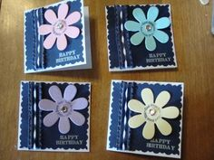 3x3 flower note cards