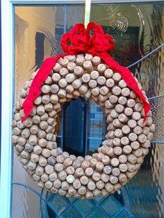 christmas wreaths ideas how to make cork tutorial
