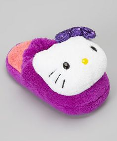 Take a look at this Purple & Pink Hello Kitty Slipper - Toddler by Hello Kitty on #zulily today!