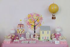 Dolls house party dessert buffet by Little Big Company with Dolls house cake