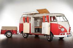 VW Camper Van + trailer