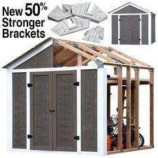 Wish - Shopping Made Fun Storage Shed Kits, Wood Storage Sheds, Outdoor Storage Sheds, Tool Storage, Garage Storage, Backyard Storage, Lumber Storage, Vinyl Storage, Garage Organization