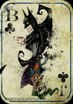 Batman/Joker card by Memory Place