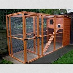 Outdoor Cat Enclosures Connected To House Cat house 2 ...