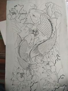 japanese with tattoos Japanese Drawings, Japanese Tattoo Art, Japanese Koi, Japanese Tattoo Designs, Japanese Sleeve Tattoos, Full Sleeve Tattoos, Koi Dragon Tattoo, Koi Fish Tattoo, Irezumi Tattoos