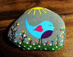 Stone painting pebble art rock painting designs, rock art i rock crafts. Rock Painting Ideas Easy, Rock Painting Designs, Painting For Kids, Paint Designs, Diy Painting, Art For Kids, Mandala Painting, Stone Drawing, Stone Decoration