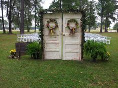 Wedding doors for a country outdoor ceremony