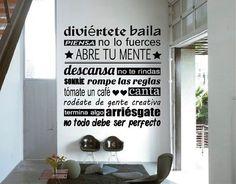¡Activa tu mente con vinilos decorativos! - Decoración - 9676 Meaning Of Life, Open House, Wall Decals, Sweet Home, Lettering, Words, Inspiration, Home Decor, Google