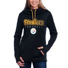 253c67491 Shop the Official Steelers Pro Shop for Pittsburgh Steelers Women s  Majestic Speed Fly Fleece Hoodie