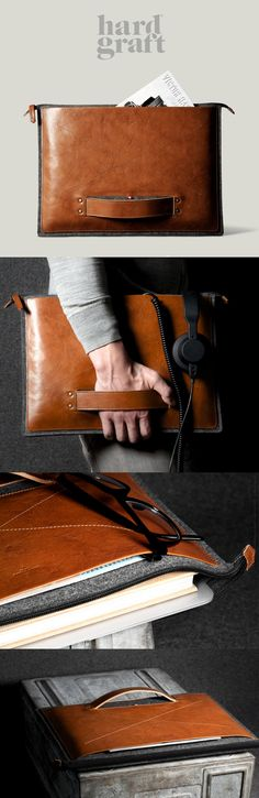 The Grip Laptop Folio by @hardgraft is worth buying on looks alone. Add to that these features and how could you not buy it. Features include: Fits a range of MacBooks, as well as many tablets | Pure German Wool Felt (3mm) to protect from bumps and scratches | Extra large leather pocket on the outside for cables, iphone, thin books | Iconic Grab Handle | Scratch free nylon Zipper Closure | Handmade in Italy | Über Premium Vegetable Tanned Italian Leather | #nattyguy #spon