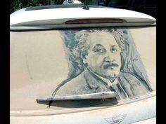 "Reverse Graffiti - drawings on dirty cars. sure beats the ""wash me"" Reverse Graffiti, Creative Photography, Art Photography, Sculpture Textile, Street Art, Land Art, E Mc2, Illustration Art, Illustrations"