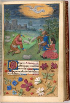 Shepherds: Annunciation | Book of Hours | France | ca. 1480 | The Morgan Library & Museum
