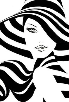 Spring Stripes - Plot Tutorial and Ideas Black Art, Black And White, Diamond Paint, Line Art, Fashion Art, Pop Art, Modern Art, Art Projects, Art Drawings