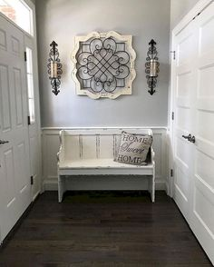 cool 48 Stunning Rustic Entryway Decor Ideas Entryway Decor Ideas Cool decor Decorating Entryway farmhouse Home ideas Rustic Stunning Rustic Entryway, Entryway Decor, Entryway Ideas, White Bench Entryway, Rustic Decor, Rustic Living Room Decor, Enterance Decor, Entryway Closet, Hallway Ideas