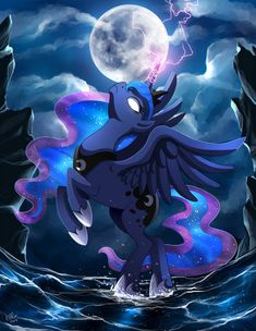 mlp video angry luna art by me My Little Pony Princess, Mlp My Little Pony, My Little Pony Friendship, Celestia And Luna, Princess Celestia, Luna Anime, Mlp Unicorn, Pichu Pokemon, Imagenes My Little Pony