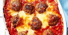 Meatballs baked in rich tomato sauce with a melting mozzarella topping - this recipe is all about comfort food. It's also perfect for freezing, making it a great option for when you don't want to cook mid-week.