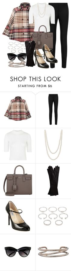 """""""Untitled #415"""" by foreverdreamt ❤ liked on Polyvore featuring Love Moschino, Yves Saint Laurent, Topshop, Majorica, Alpo, Jimmy Choo, Forever 21 and Tiffany & Co."""