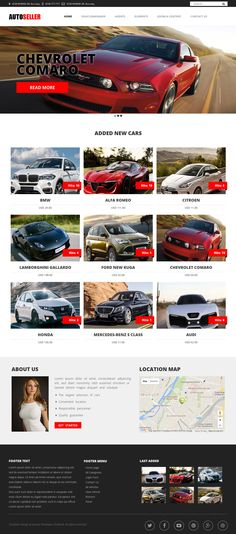 23 Best Car Templates by Ordasoft images Joomla templates, Website