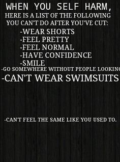 This is why I don't swim anymore, wear shorts, skirts, leggings, pants with holes that show my skin on my thighs.