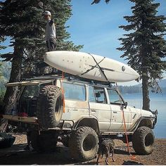 """The #fj60 is a true icon. Nothing says """"go camping"""" like a #classic #landcruiser -  credit: @tommyboydo @frontrunneroutfitters - - -  #wyvernoutfitters #wytac #overland #overlanding #offroading #defender  #4x4 #4wd #landroverdefender #jeepwrangler #toyotatacoma #pnw #upperleftusa #pnwonderland #rooftoptent #edc #guns #awesome #camping"""