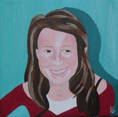 Si vous souhaitez immortaliser le portrait d'un proche ou même le vôtre, je peux le peindre à partir d'une photo comme celui de l'adolescente que je vous dévoile ci-dessus. Portrait dimensions 40x4...