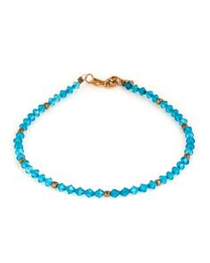Glamorous Blue Crystal Bead Hook Anklets Pair | Rs. 180 | http://voylla.com