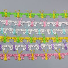 Aliexpress.com : Buy 2 Yards Embroidery Polyester colorful butterfly Flower Lace Trim Fabric, DIY Manual Sewing Supplies clothes Trim Crafts from Reliable crafts with rubber bands suppliers on Lace Applique Fabric & Sewing Supplies store