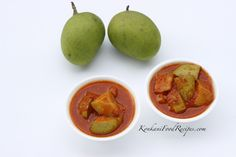 Raw Mango Pickle (Ambuli Nonche, Karmbi Nonche) Mango Recipes, India Food, Indian Dishes, Indian Food Recipes, Dressings, Pickles, Sauces, Turkey, Fruit