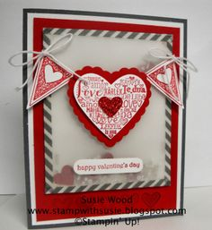 #Papercraft #Valentines #card. Stampin' Up!- A Valentines Vellum SHAKER card using 'Language of Love'