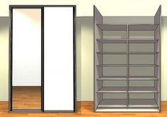facade placard sur mesure portes coulissantes 2V4-2C1