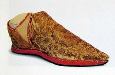Shoes of pope Benedict XI.  2nd half of 13th century