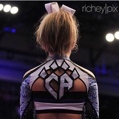 Cheer Athletics Queen Cats! I think this is the prettiest uniform top I've ever seen!