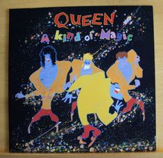 QUEEN-A-Kind-of-Magic-Vinyl-LP-One-Vision-Who-wants-to-live-forever-RARE