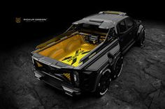If you thought the Mercedes-Benz X-Class pick-up truck was the final work in luxury off-road vehicles, you haven't seen Carlex Design's EXY 6x6 Truck, Suv Trucks, Diesel Trucks, Lifted Trucks, Cool Trucks, Cool Cars, Best Pickup Truck, Pickup Camper, Old Pickup Trucks
